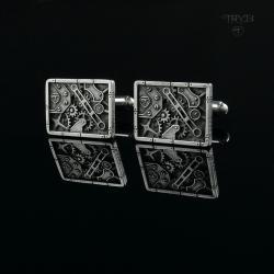 spinki,mechaniczne,steampunk, - Dla mężczyzn - Biżuteria