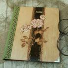 Notesy szkicownik,notatnik,pirografia,róża
