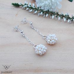 lekkie kolczyki,kulki,perły,JewelsbyKT - Kolczyki - Biżuteria