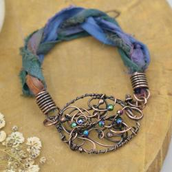 bransoletka,miedź,bohema,bransoletka sari - Bransoletki - Biżuteria