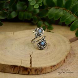 pierścionek,regulowany,labradoryt - Pierścionki - Biżuteria