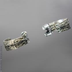 koła,organiczne,surowe,oryginalne - Kolczyki - Biżuteria