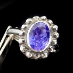 tanzanit,fiołkowy,styl,srebrny,blask,retro,fiolet - Pierścionki - Biżuteria