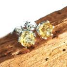 Kolczyki cytryny,blask,żółte,srebrne,srebro,delikatne,złoty