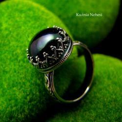 nehesi,pierścionek,srebrny,pierscionek,perłą - Pierścionki - Biżuteria