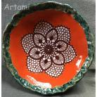 Ceramika i szkło misa rzeżbiona ceramika tradycja