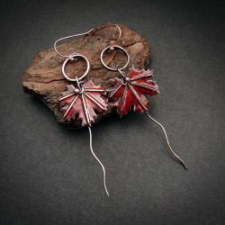 kolczyki liście klonu,jesienne kolczyki listki - Kolczyki - Biżuteria