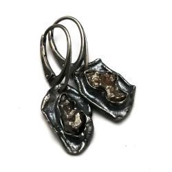 meteoryt,blask,prezent,srebrne,okaz,święta,retro - Kolczyki - Biżuteria