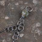 Naszyjniki srebrny naszyjnik ze szkłem afgańskim