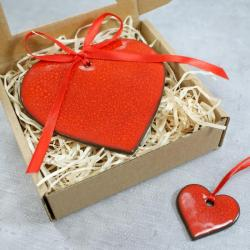 walentynki,upominek walentynkowy,serce - Ceramika i szkło - Wyposażenie wnętrz