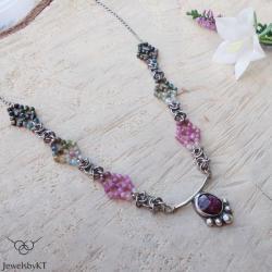 srebro,chainmaille,nowoczesne,JewelsbyKT - Naszyjniki - Biżuteria