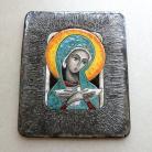 Ceramika i szkło Beata Kmieć,ikona ceramiczna,Maryja,Pneumatofor