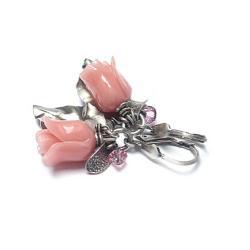 romantyczne,kwiaty,róże - Kolczyki - Biżuteria