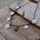 Naszyjniki z zawieszkami,z monetkami,krótki,modny