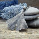 Naszyjniki srebro,natura,liść,miłorząb,organiczny