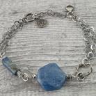 Bransoletki bransoletka z kianitem,lapis lazuli,łańcuszkowa