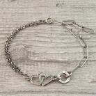 Bransoletki bransoletka łańcuszkowa,bransoletka z sercem