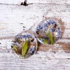 Kolczyki kolczyki z kwiatami w żywicy i srebrze