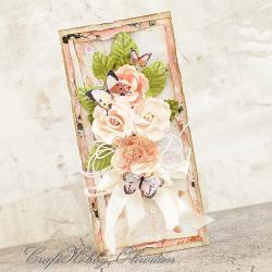 ślub,kartka,kwiaty,motyl,kartka ślubna - Kartki okolicznościowe - Akcesoria