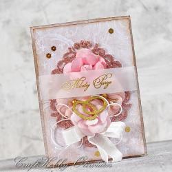 ślub,życzenia,kwiaty,obrączki,ślubna - Kartki okolicznościowe - Akcesoria