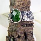 Pierścionki pierścionek srebrny z turmalinem