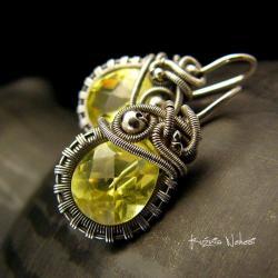 nehesi,kolczyki,srebre,srebra,zółte,żółty - Kolczyki - Biżuteria