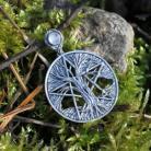 Wisiory drzewo życia,pentagram,pentakl,kryształ górski