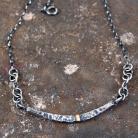 Naszyjniki naszyjnik ze srebra i złota