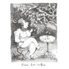 Ilustracje, rysunki, fotografia paniusia,dama,kawa,stoliczek,tusz,ilustracja