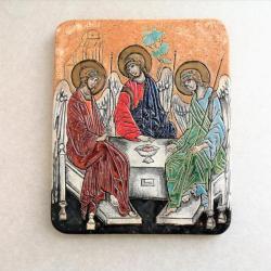 Beata Kmieć,ikona ceramiczna,Trójca święta - Ceramika i szkło - Wyposażenie wnętrz