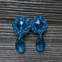 małe kolczyki,kolczyki soutache - Kolczyki - Biżuteria