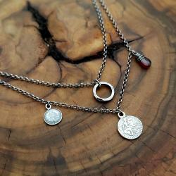 z zawieszkami,z monetkami,krótki,modny - Naszyjniki - Biżuteria