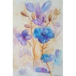 kwiaty,akwarela - Obrazy - Wyposażenie wnętrz