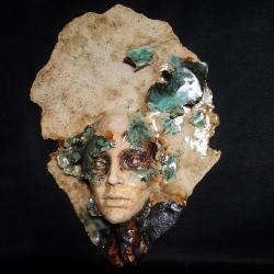 twarz,maska,dekoracja,ceramika - Ceramika i szkło - Wyposażenie wnętrz