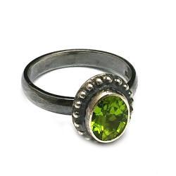 peridot,oliwin,blask,srebrny,srebro,szary,zielony - Pierścionki - Biżuteria