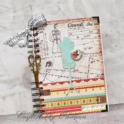 notes,notatnik,zeszyt,krawcowa,szycie - Notesy - Akcesoria