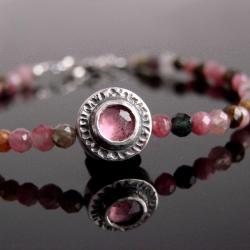 bransoletka,orient,srebro,turmalin - Bransoletki - Biżuteria