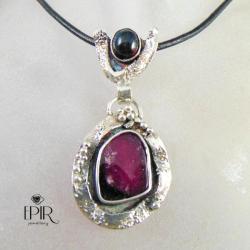 Wisior sarebrnyz turmalinem - Wisiory - Biżuteria