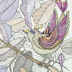 ptaki,ptaszki,ilustracja,obraz,na prezent, - Ilustracje, rysunki, fotografia - Wyposażenie wnętrz