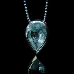 srebro,akwamaryn,naszyjnik,unikat - Naszyjniki - Biżuteria