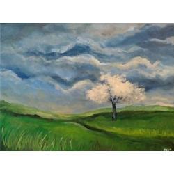 drzewo,obraz,akryl - Obrazy - Wyposażenie wnętrz