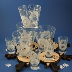 renifer,święta,grawer - Ceramika i szkło - Wyposażenie wnętrz