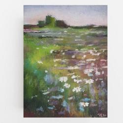 łąka,pastele - Ilustracje, rysunki, fotografia - Wyposażenie wnętrz