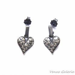 kolczyki,biżuteria,srebrna,prezent,serduszka - Kolczyki - Biżuteria