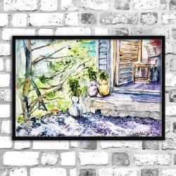 akwarela,lato,natura,delikatny,sketch - Obrazy - Wyposażenie wnętrz
