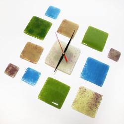 zegar ścienny szklany elementy design - Zegary - Wyposażenie wnętrz