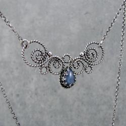 romantyczny,vintage,retro,filigran,ażurowy, - Naszyjniki - Biżuteria