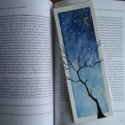 zakładka,drzewo,akwarela - Zakładki do książek - Akcesoria