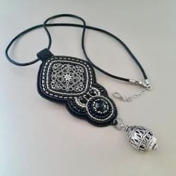 naszyjnik,haft koralikowy,na prezent - Naszyjniki - Biżuteria