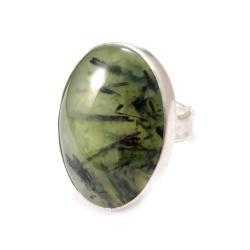 prehnit,srebrny,szary,zieleń,złocisty,kwarc,retro - Pierścionki - Biżuteria